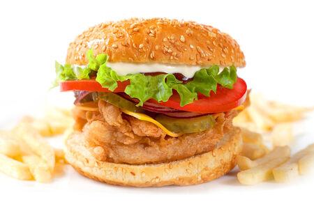 Бургер Фирменный с нежнейшим мясом цыпленка
