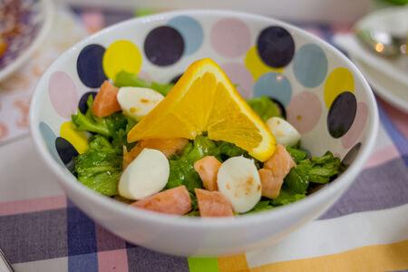 Салат с сёмгой и апельсинами