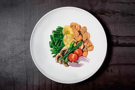 Курица по-азиатски с овощами