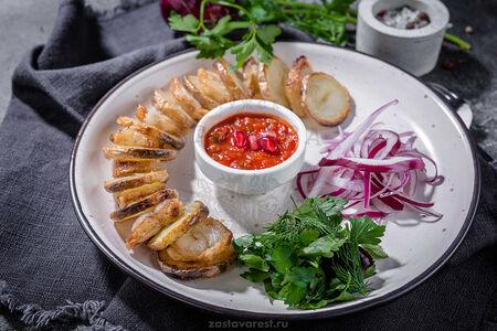 Шашлык из картофеля с курдюком