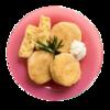 Фото к позиции меню Котлеты картофельные с луком жареные