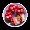Фото к позиции меню Пирожное муссовое Малина от шеф-кондитера Ав