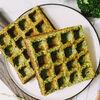 Фото к позиции меню Вафли овощные из шпината и брокколи