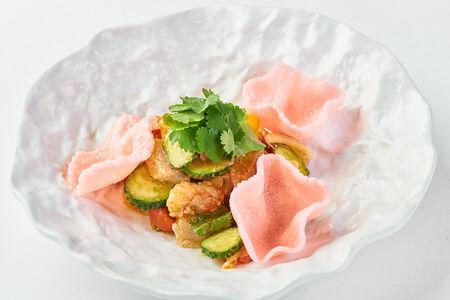 Салат из морепродуктов в стиле севиче