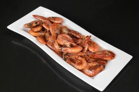 Креветки жареные к пенному