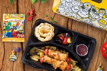 Детский обед с куриным шашлычком