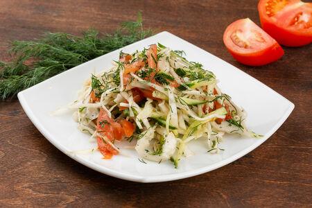 Салат Орзу с белокочанной капустой