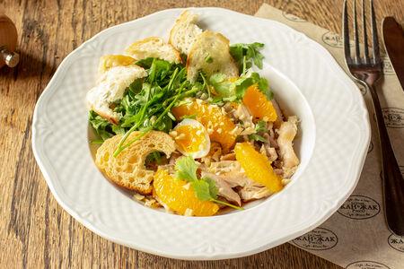 Салат из мяса домашней курицы