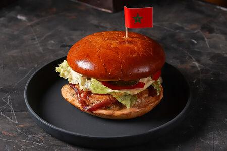 Бургер по-мароккански из курицы