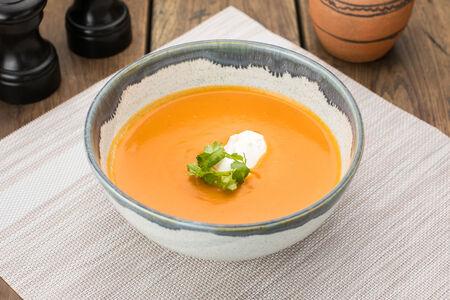Суп-пюре из чечевицы со сливочным сыром