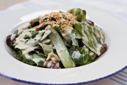 Еврейский салат с тхиной и баклажанами