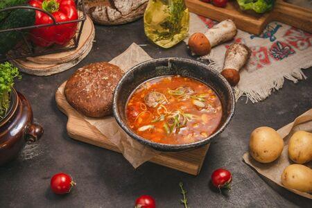 Алтайский суп с фрикадельками из баранины и нутом