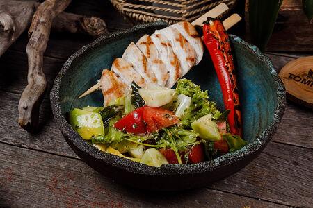 Салат с курицей по-азиатски