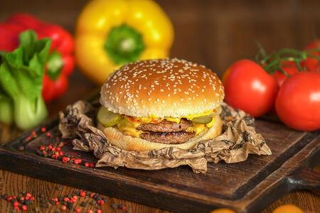 Бургер Биг дабл чизбургер