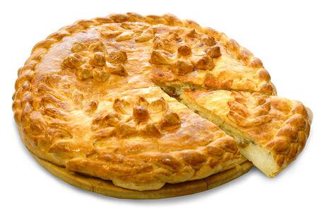 Пирог с творогом и изюмом