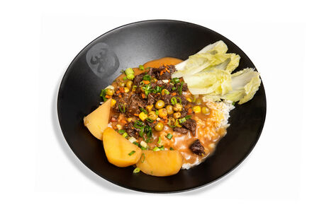 Рис с чесночным соусом
