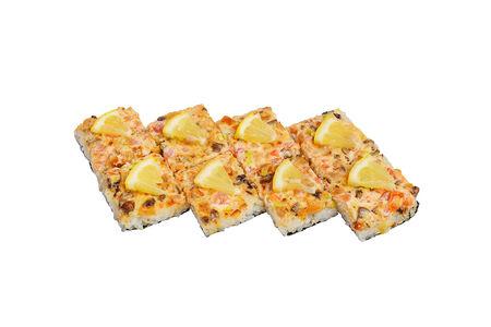 Суши-пицца с курицей