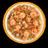 Фото к позиции меню Рис с курицей и креветками по-тайски