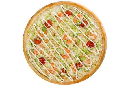 Пицца Цезарь с креветкой