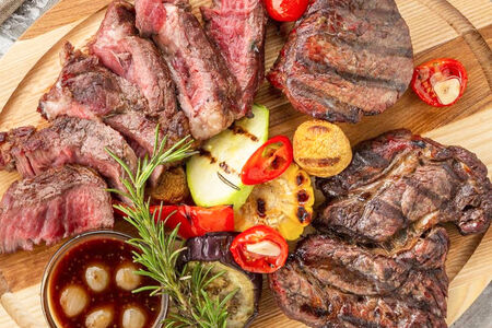 Стейк Филе Миньон с овощами