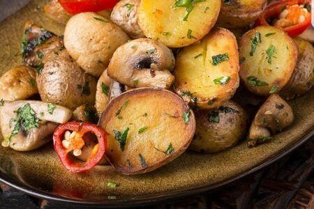 Стоун картофель с грибами