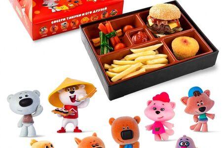 Kids Box с бургером и овощами и игрушкой в подарок