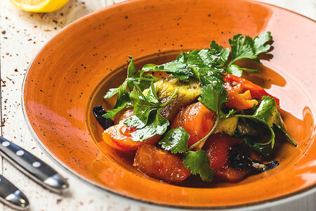 Салат Овощной на углях