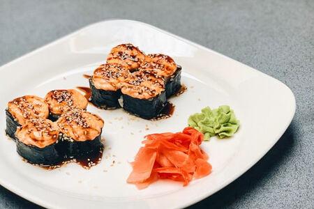 Ролл Тануки с лососем
