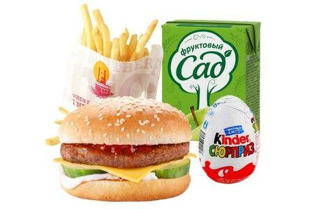 Детский ланч с чизбургером (для мальчика)