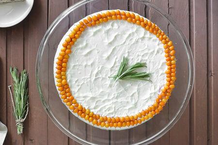 Сырный пирог-чизкейк Облепиховый