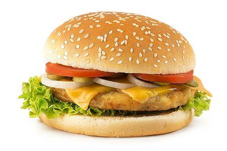 Бургер острый с куриной котлетой