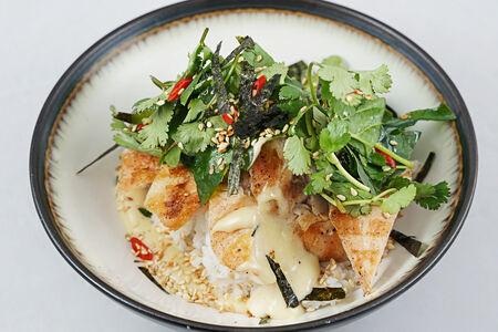 Рис с имбирной курицей