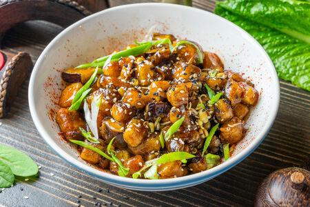 Баклажаны с рисом в соусе ланч кинг