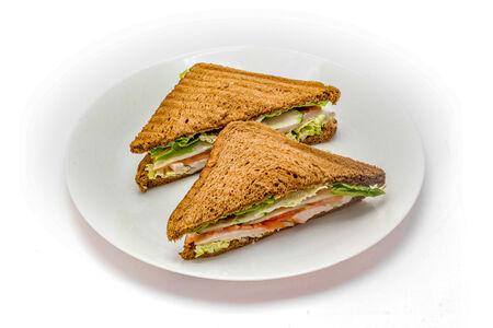 Сэндвич с отварной курочкой