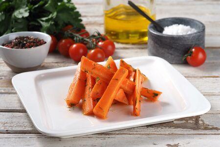 Морковь печеная с медом