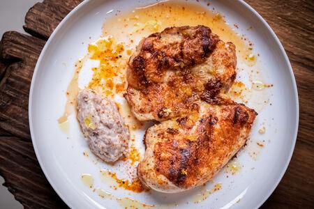 Курица маринованная в горчице юзу