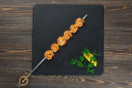 Шаш-кебаб из креветки