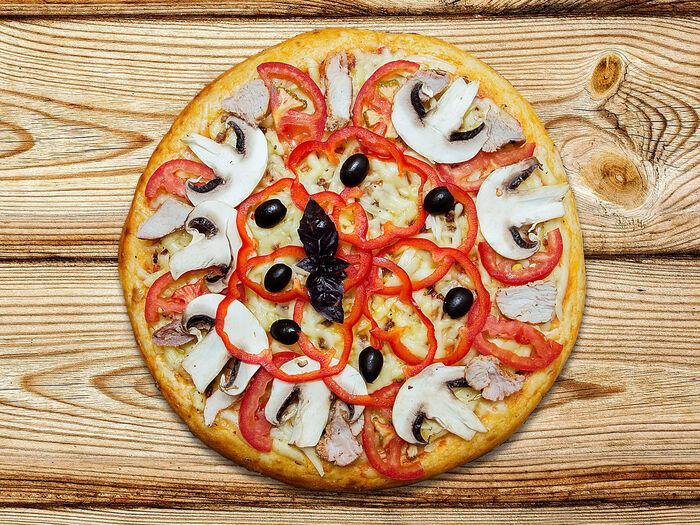 Пицца Аппетитная с мясом гриль