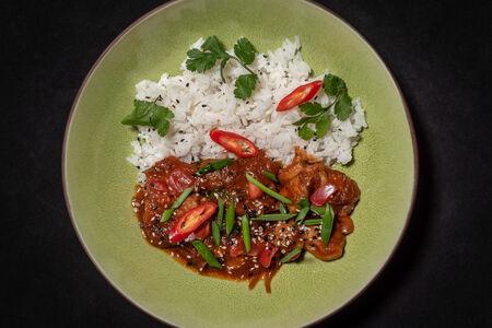 Курица с рисом по-сингапурски