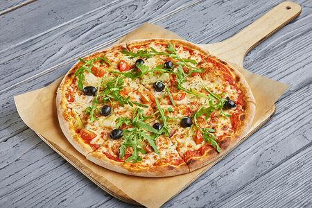 Пицца с артишоками и томатами черри
