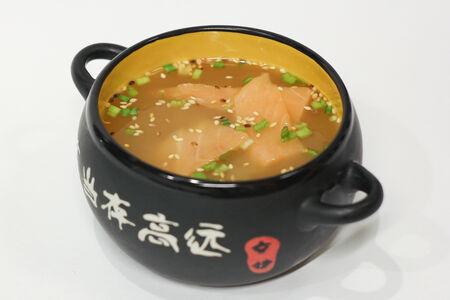 Суп Суимоно с лососем