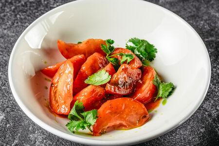 Севиче из томатов с соусом кимчи