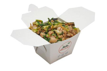Вок Курица с грибами шиитаке