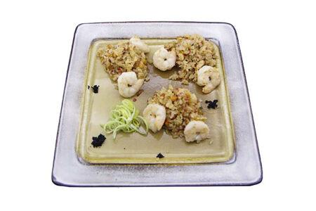 Рис японский с креветками