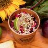 Фото к позиции меню Греча на кокосовом молоке со свёклой и листьями лайма