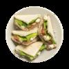 Фото к позиции меню Клаб сэндвич с тунцом и базиликом