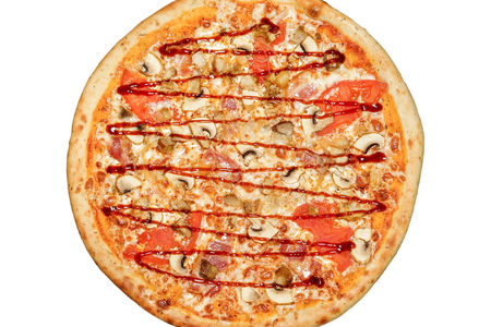 Пицца Барбекю пышная
