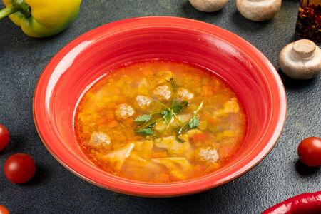 Суп Минестроне с фрикадельками