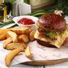 Фото к позиции меню Бургер с мраморной говядиной