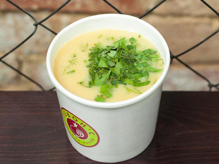 Суп чечевичный с курочкой